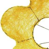 Manchette Sisal jaune Ø20cm Manchette fleur 8pcs