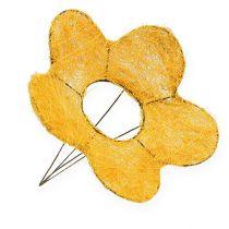 Support à fleurs en sisal jaune Ø 25 cm 6 p.