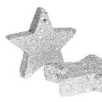 Étoiles pour disperser le tri argenté. 4-5cm 40p