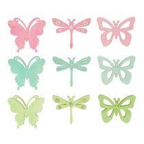 Articles à parsemer papillons & libellules 4 cm 72 p.