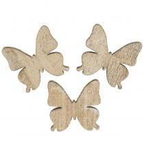 Décoration épars papillon bois nature 2cm 144p