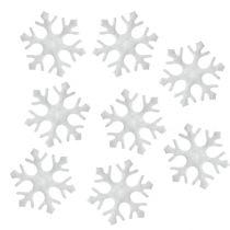 Flocons de neige Décoration à contrôler blanc 3,5cm 120pcs