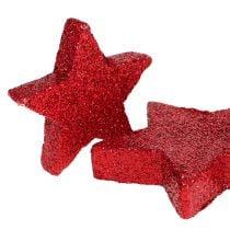 Étoiles éparses rouges, mica 4-5cm 40pcs