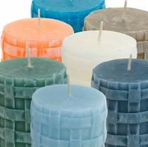 Bougies pilier Rustique 80/65 bougie différentes couleurs 2pcs
