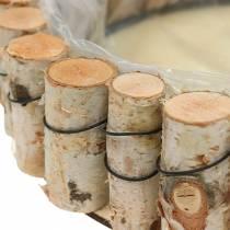 Plateau, bois de bouleau naturel, rond, Ø24cm