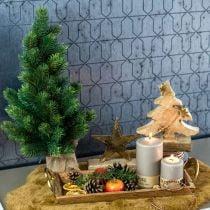 Sapin de Noël dans un sac de jute 47cm