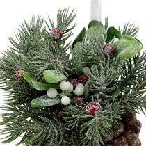 Pommes de pin avec décoration à suspendre rouge 25cm - 32cm