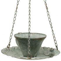 Bol à nourriture bain d'oiseaux antique Ø21cm