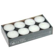 Bougies chauffe-plats maxi Ø 58 mm 16 p. blanches