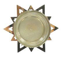 Photophore étoile dorée 23.5cm 4pcs