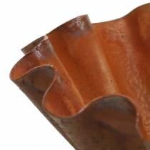 Bol décoratif, aspect plat de cuisson, grille inox Ø12,5cm H4cm