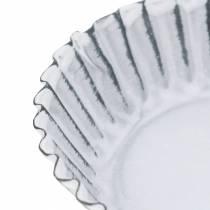 Plaque de cuisson décorative en zinc blanc Ø10cm H2cm