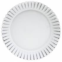 Plaque de cuisson décorative en zinc blanc Ø15cm H2cm