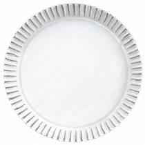 Plaque de cuisson décorative en zinc blanc Ø19,5cm H2cm