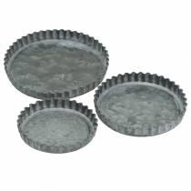 Ensemble de moules à pâtisserie décoratifs en zinc Ø7,8–11,5cm H1,3cm