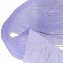 Chemin de table en tissu crash lilas 100 mm 15 m