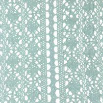 Chemin de table dentelle au crochet vert menthe 30 x 140 cm