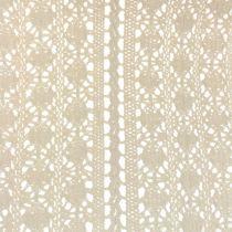 Chemin de table crocheté couleur nature 30 x 140 cm
