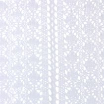 Chemin de table dentelle au crochet blanc 30 x 140 cm