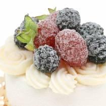 Cupcake décoratif réplique de nourriture de mûre 7cm