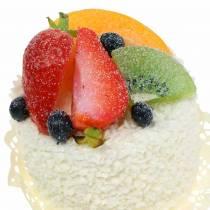 Tartelette décorative aux fruits Aliments factices aux fraises 7cm