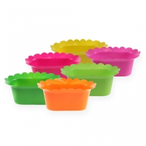Pot en plastique coloré oval 23 cm 10 p.
