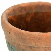 Jardinière vintage en argile naturelle Ø8.5cm H7cm 4pcs