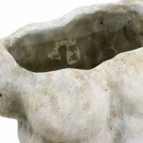 Cache-pot torse mâle gris 19×13,5cm H28cm
