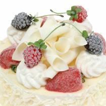 Gâteau à la crème aux baies artificielles Ø15cm H11.5cm
