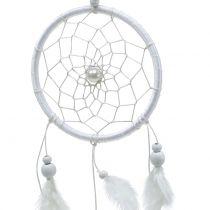 Capteur de rêves avec des plumes blanc 50cm 2pcs