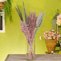 Ensemble de bouquet de séchage exotique mélange blanc-rose de fleurs séchées