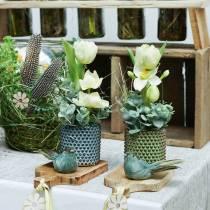 Jardinière Pot décoratif Marron, Vert Ø10cm H10cm Lot de 2