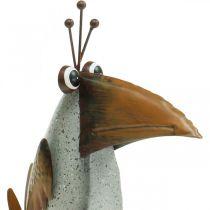 Oiseau en métal, décoration corbeau, décoration en métal, décoration de jardin 24,5cm