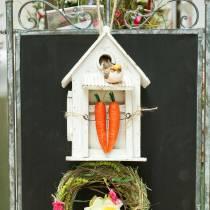 Birdhouse à suspendre blanc H25,5cm