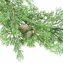 Genévrier branche décoratif avec cônes vert 110cm
