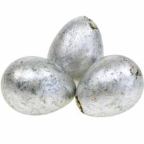 Décoration oeuf de caille argent vide 3cm Décoration de Pâques 60pcs
