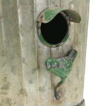 Nichoir décoratif à suspendre vert antique H26cm