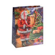 Sac en papier Père Noël 11 x 13, 5 cm