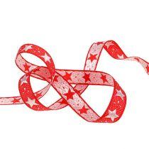 Ruban de Noël avec étoiles rouges 15mm 20m