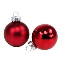 Boules de Noël Ø 4 cm rouge brillant/mat 24 p.