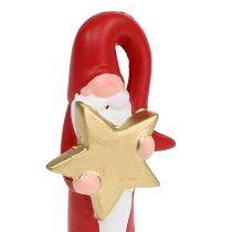 Figurine Père Noël rouge H15cm