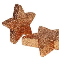 Étoiles de Noël Étoiles scintillantes en cuivre Sprinkle Décoration 40p