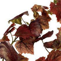 Guirlande de feuilles de vigne rouge foncé 190cm