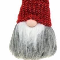 Gnome Deco avec bonnet de laine 11cm H31cm 2pcs