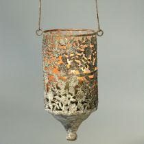 Fil de suspension léger en métal antique Ø10cm H21cm 2pcs