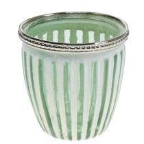 Photophore antique vert Ø 8,5 cm H. 9 cm