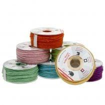 Cordon de laine coloré 3mm 100m