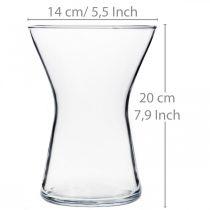 Vase X-verre clair Ø14cm H19cm