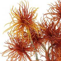Xanthium fleur artificielle automne décoration orange 6 fleurs 80cm 3pcs
