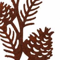 Bouchon de jardin branche conique inox métal H40 cm 4pcs